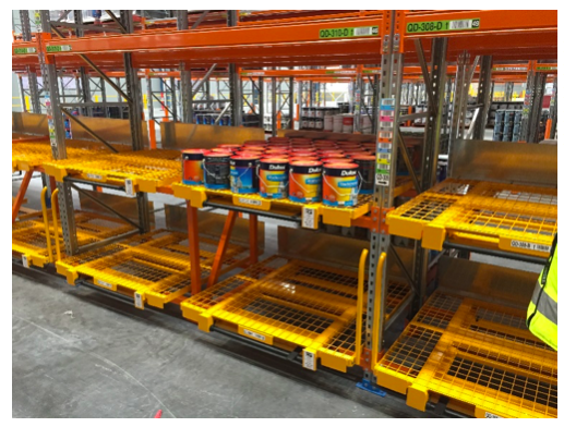 The RotoLift Roto Racking Roller Pallet System